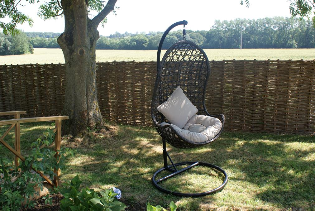 hanging pod swing chair rattan garden outdoor furniture ebay