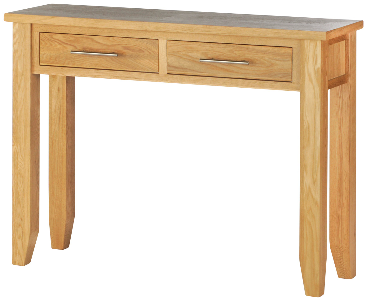 Aston Oak Range 2 Drawer Console Table Dimensions Table Height 750mm X . Full resolution‎  image, nominally Width 1181 Height 972 pixels, image with #9F6F2C.