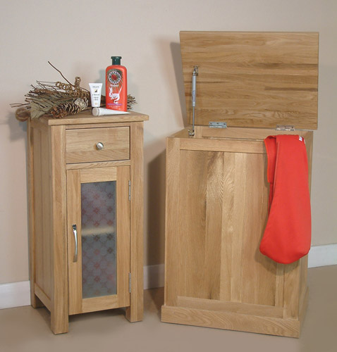 fusion solid oak bathroom storage cabinet cupboard free standing small
