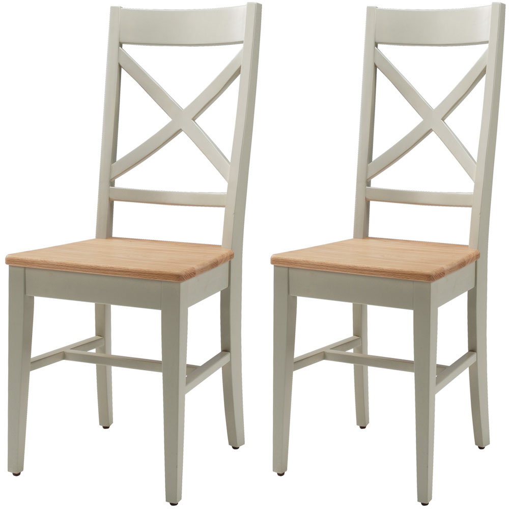 Chelsea painted oak top furniture 6 dining table chairs