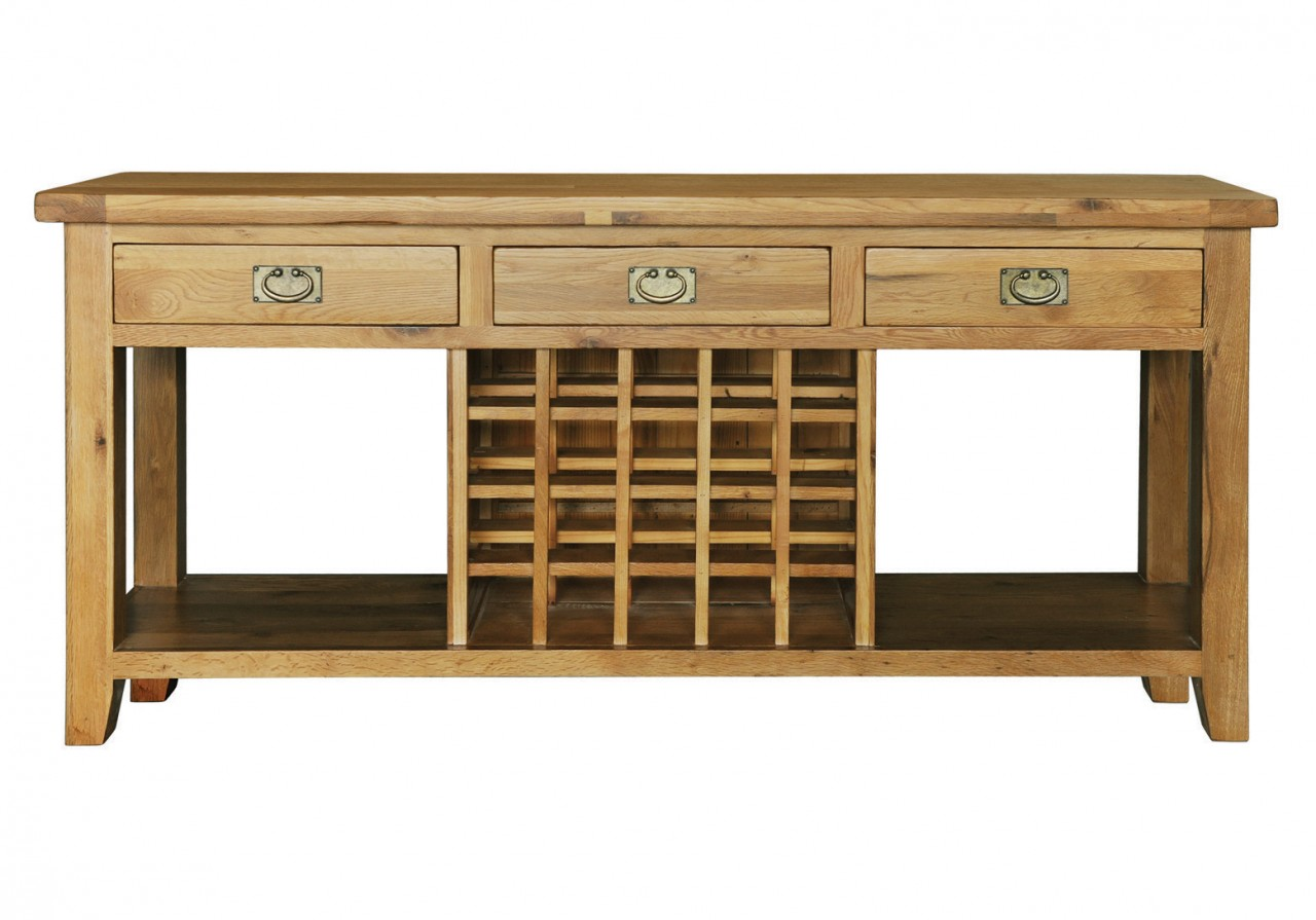 About Chester Solid Oak Furniture Hallway Console Wine Table 3 Drawer. Full resolution‎  image, nominally Width 1280 Height 895 pixels, image with #674726.