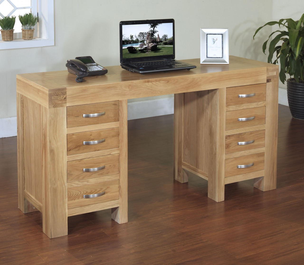Clifton Solid Oak Furniture Computer Desk Home Office Table Ebay