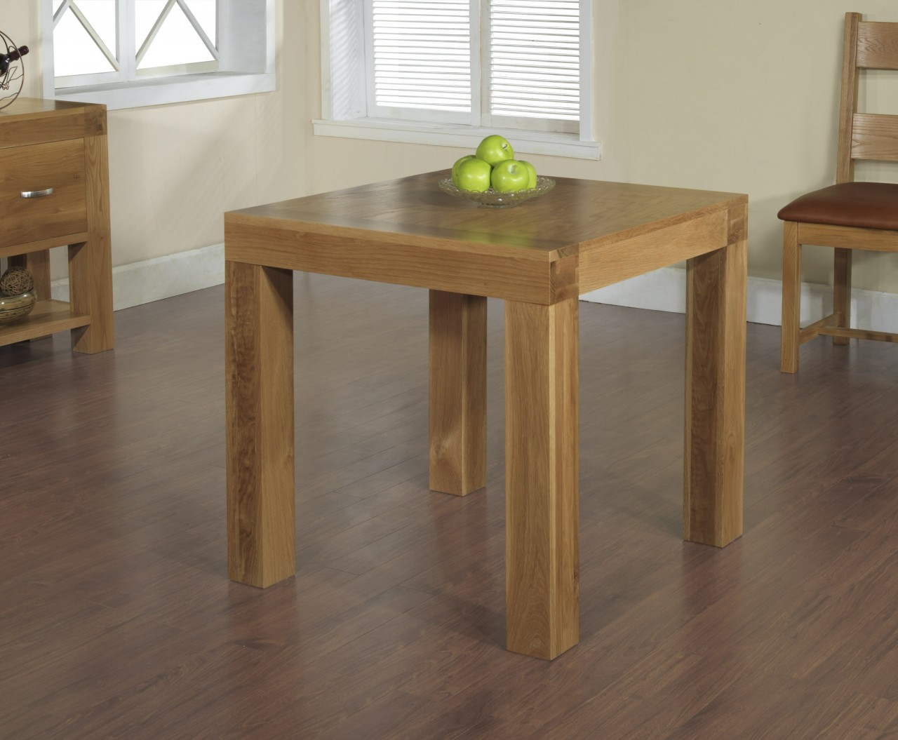 clifton solid oak furniture small square dining table 80cm. Black Bedroom Furniture Sets. Home Design Ideas