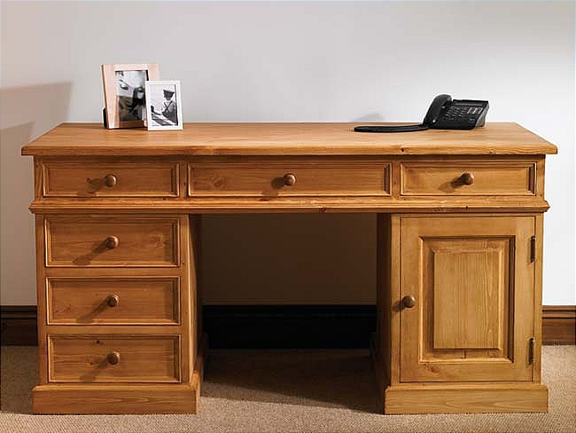 about devon pine computer desk study table home office furniture