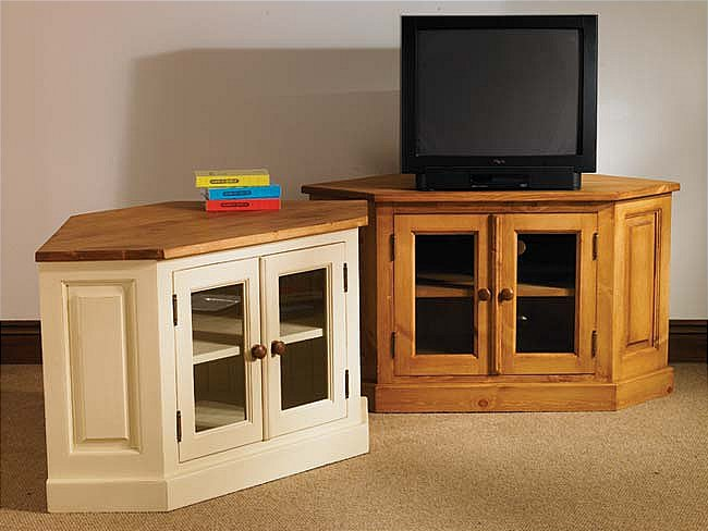 Painted Pine Furniture Corner LCD TV Unit Stand Cabinet EBay