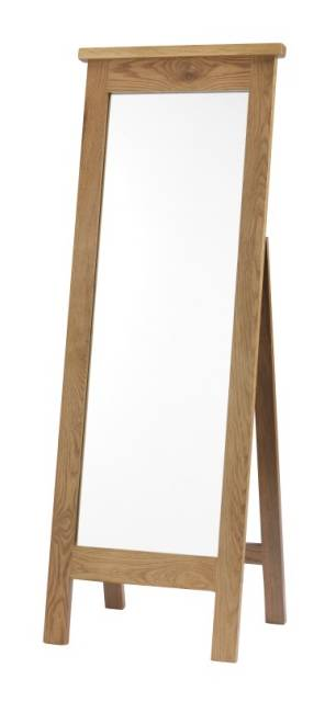 Eve oak bedroom furniture cheval free standing mirror long for Long mirrors for bedroom