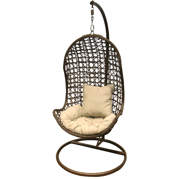 Rattan outdoor garden furniture hanging pod swing chair ebay