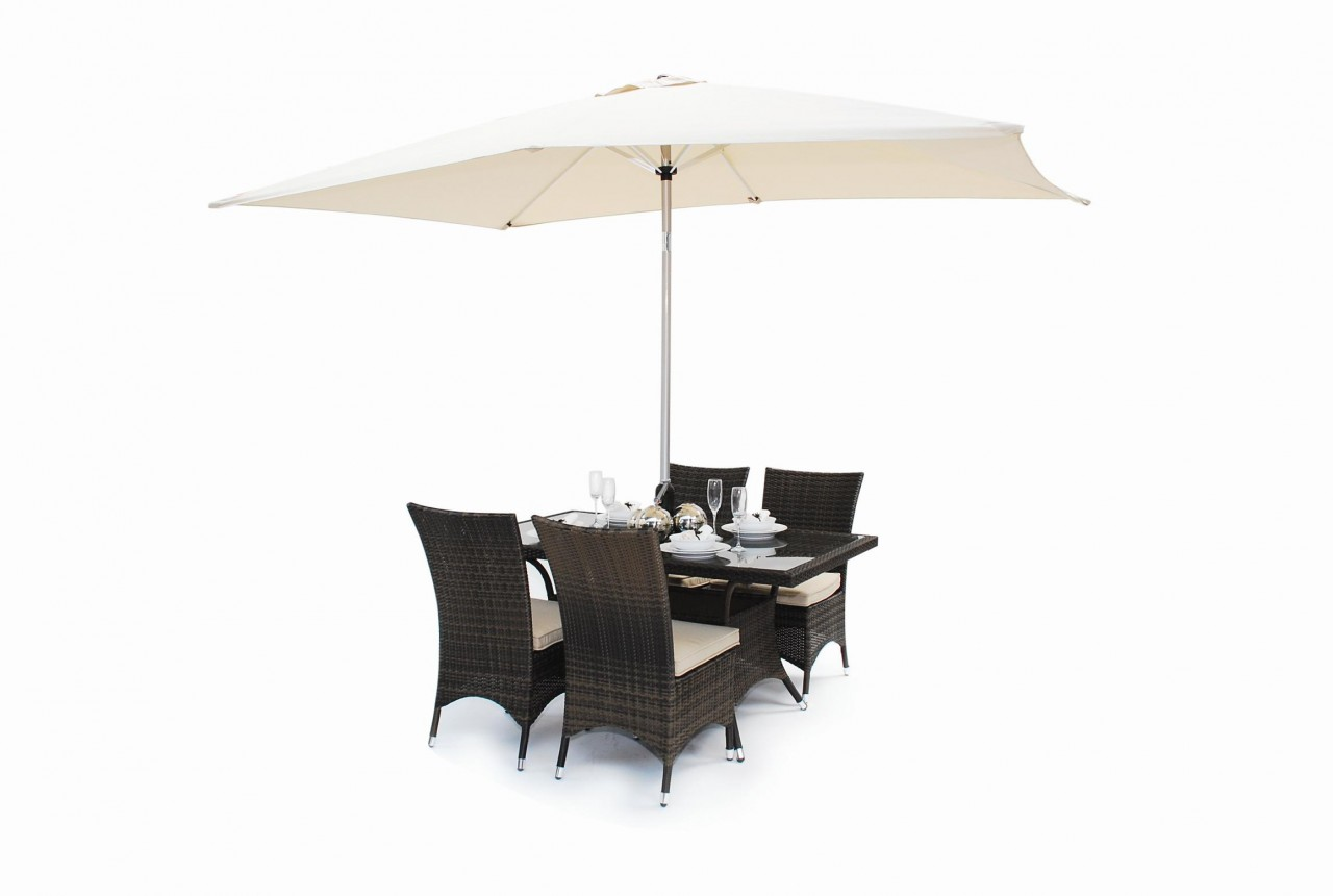 Rattan ROMA Square Dining Table And 4 Chair Garden SET EBay