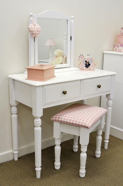 Pine Dressing Table ~ Hampton white painted furniture dressing table mirror