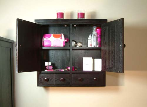 dark wood bathroom wall cabinet images