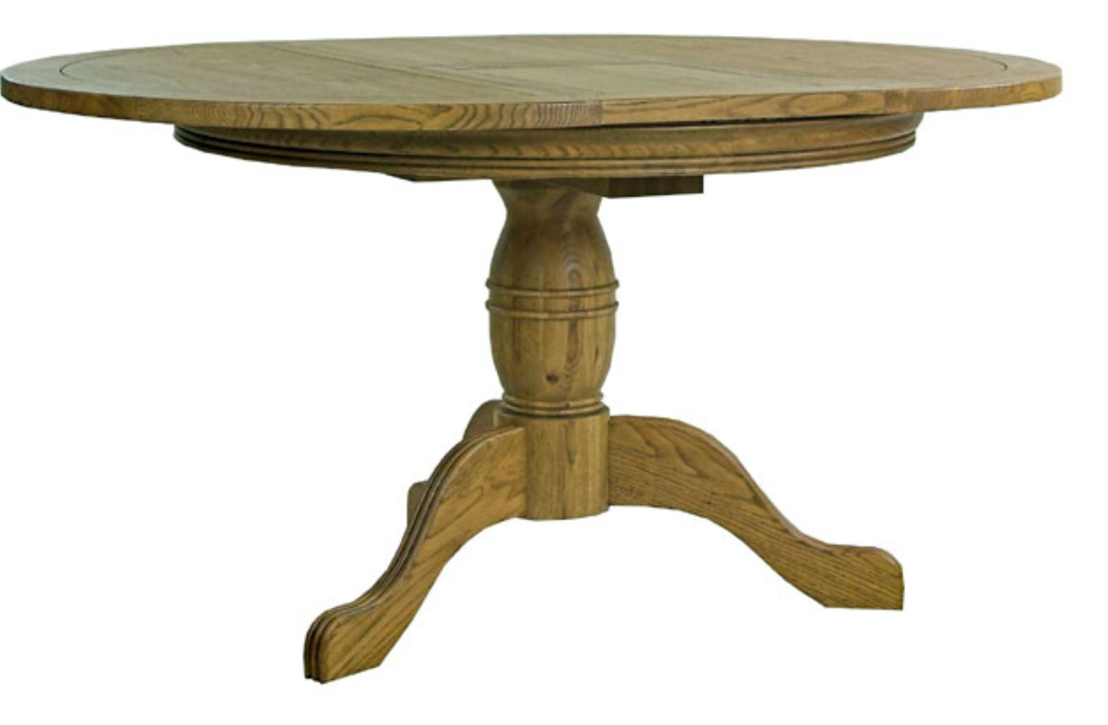Paris Solid Oak Furniture Round Extending Dining Table