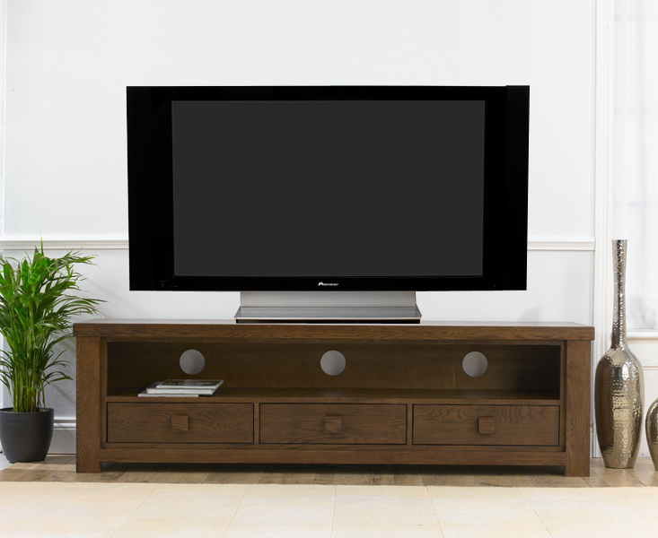 details about pacific dark solid oak living room furniture 3 drawer tv