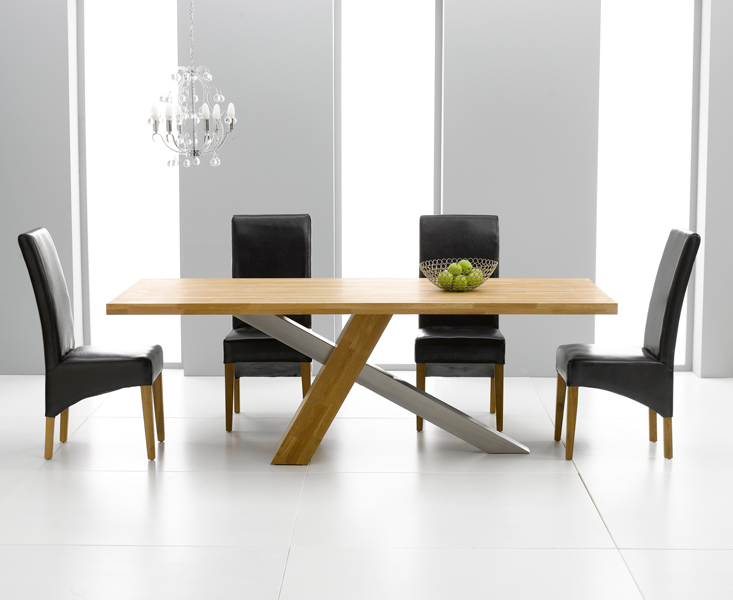 New york oak modern furniture extra large dining table and