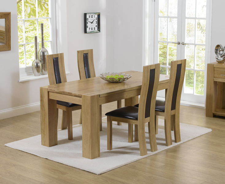 Rutland Solid Chunky Oak Furniture Small Dining Table And 4 Havana Chairs Ebay