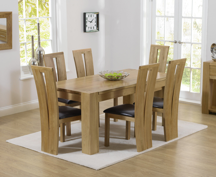 Rutland Solid Chunky Oak Furniture Small Dining Table And 6 Arizona Chairs Ebay