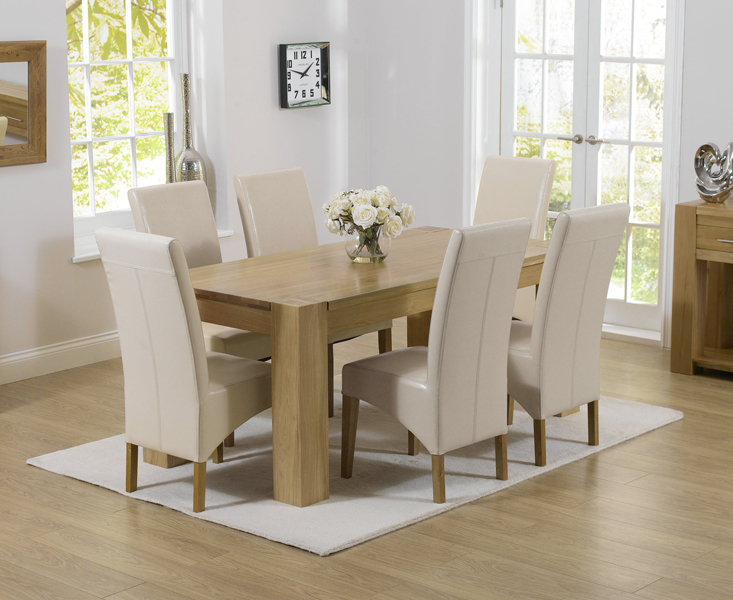 Rutland Solid Chunky Oak Furniture Small Dining Table And 6 Roma Chairs Ebay