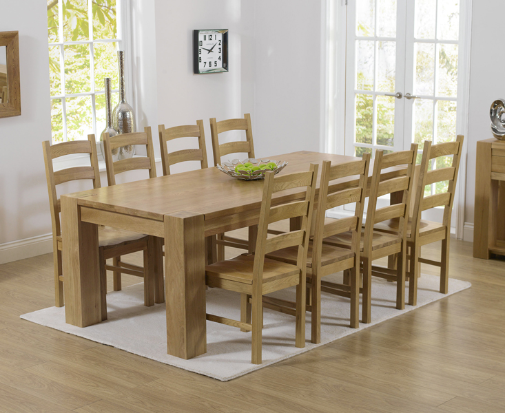 Rutland solid chunky oak furniture large dining table and  : Tampa20220cm20820Valencia20Timber from www.ebay.co.uk size 733 x 600 jpeg 335kB