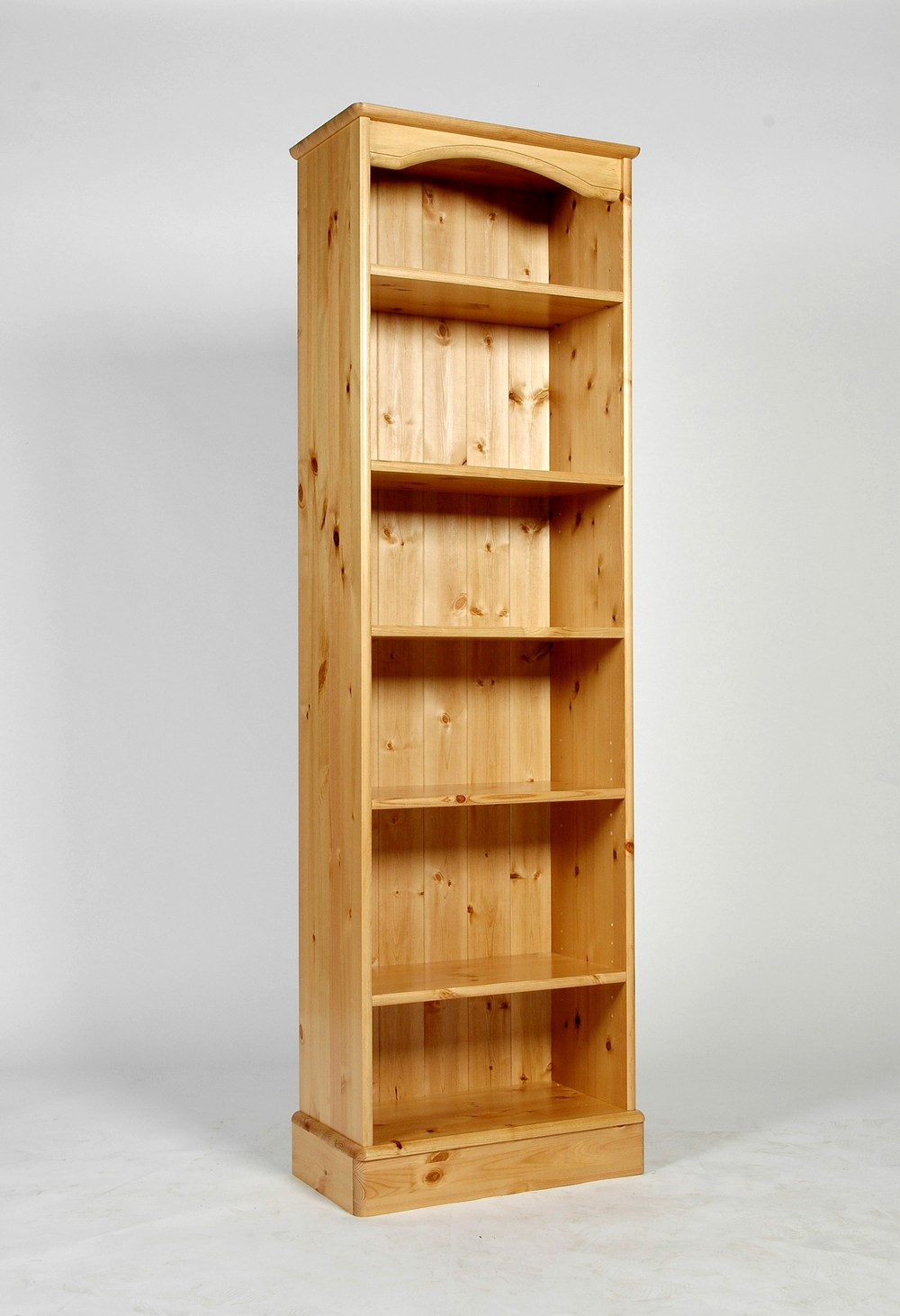 Baltic Pine Furniture Tall Narrow Bookcase Bookshelf Slim