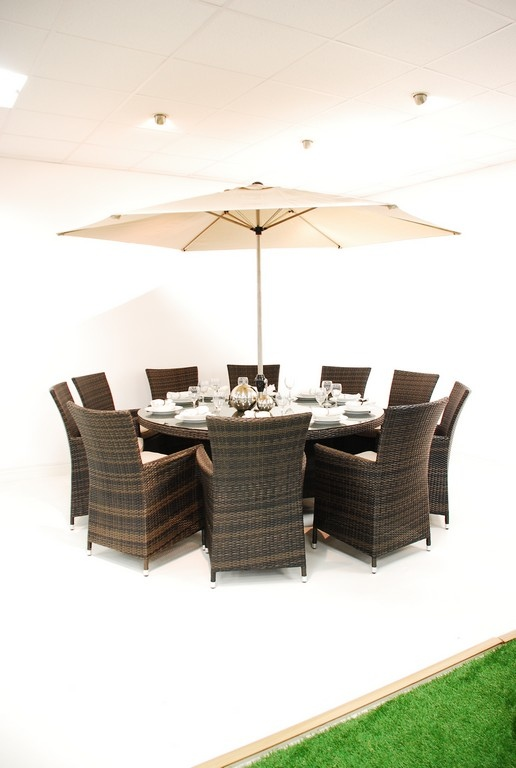 milan rattan 10 seater round dining set dimensions table height 770mm
