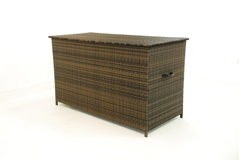 Rattan garden outdoor furniture large storage box weave