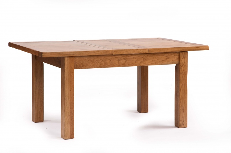 Details About RUSTIC Solid Oak FURNITURE Extending Dining Table 200cm