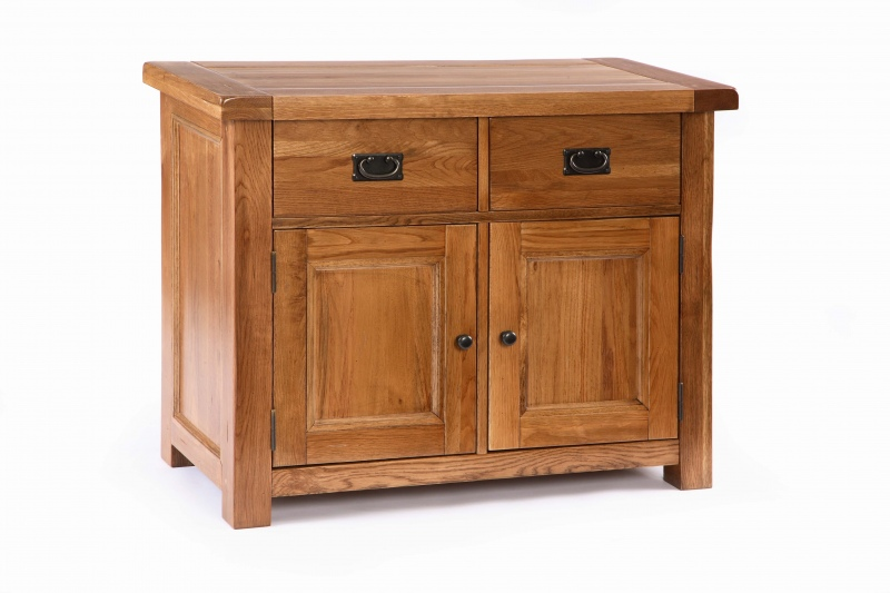 RUSTIC Solid Oak FURNITURE Small Dining Room SIDEBOARD EBay