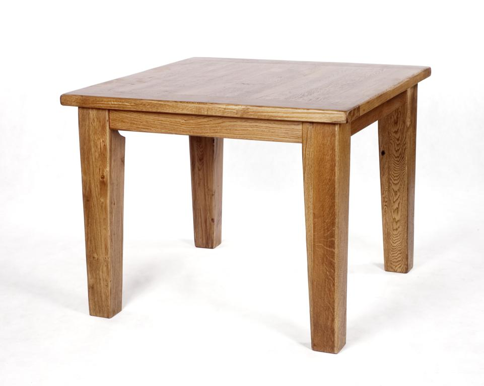 Rutland Rustic Oak Range Square Dining Table Dimensions Table Height