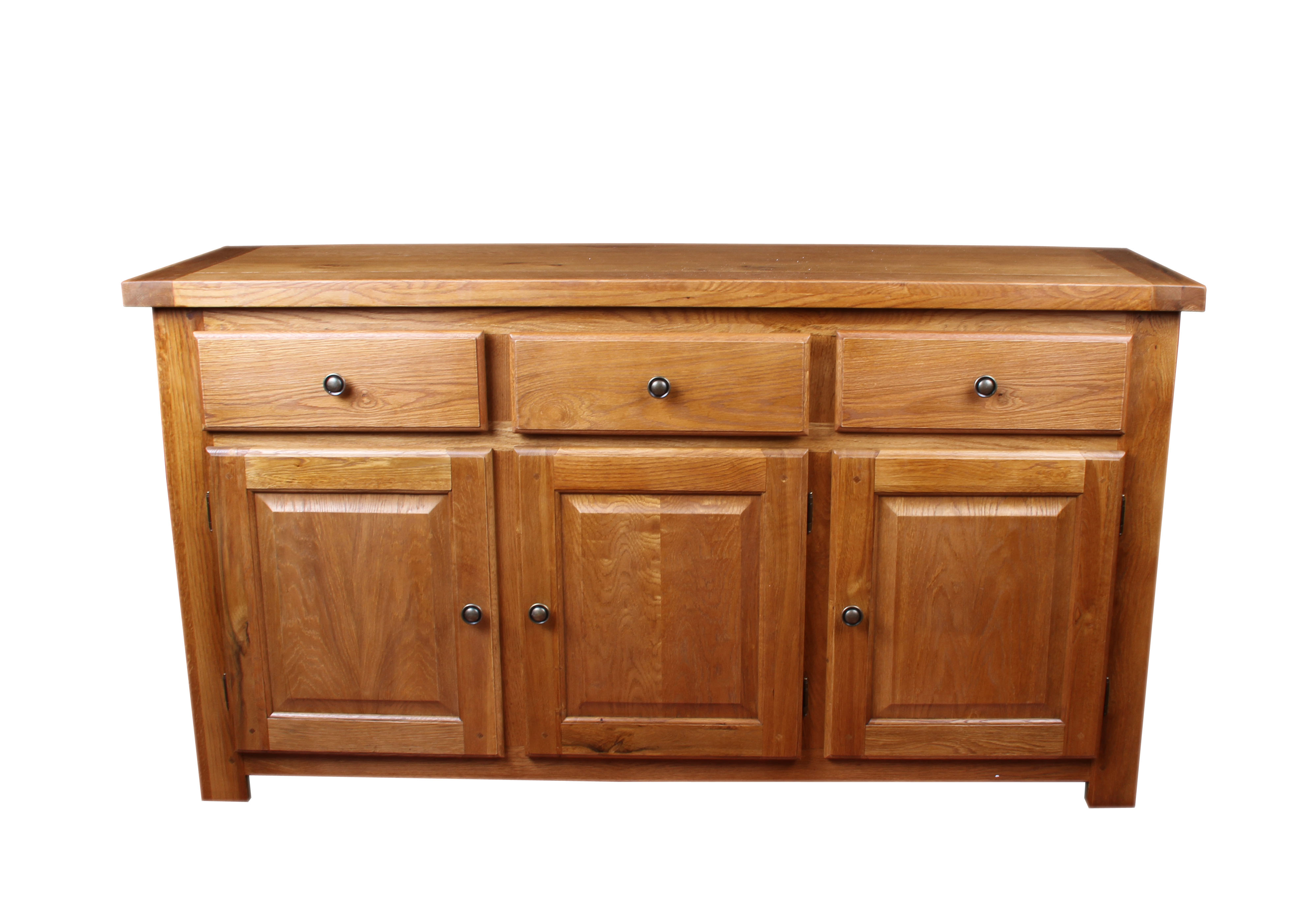 Windsor Rustic Oak Dining Room Furniture 3 Door Sideboard EBay