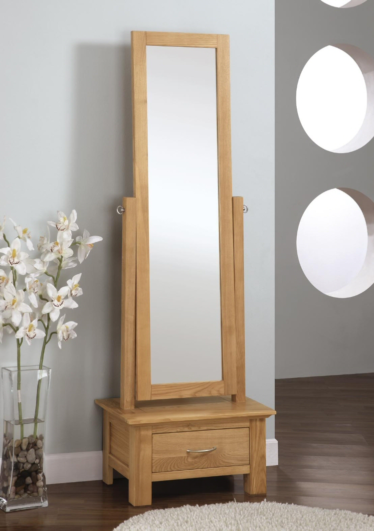 Shaker ash mirror bedroom furniture free standing wax for Standing mirror for bedroom