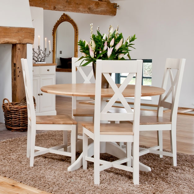 ellis painted furniture oak round pedestal dining table ForPainted Round Dining Table And Chairs